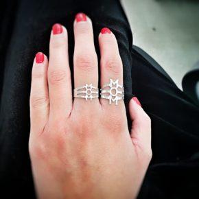 טבעת MOM מעוצבת