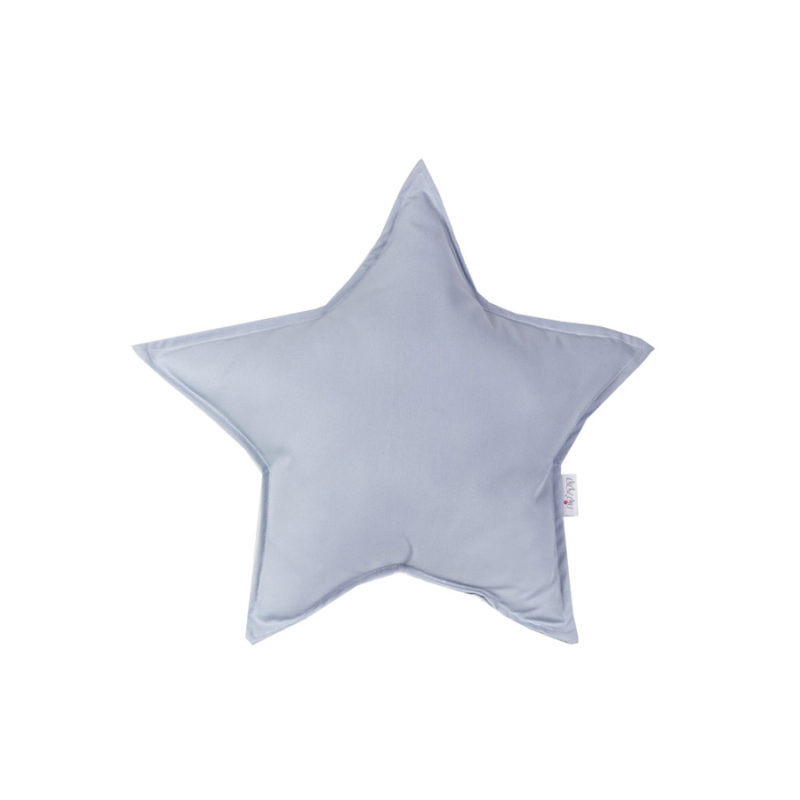 כרית נוי בצורת כוכב אפור
