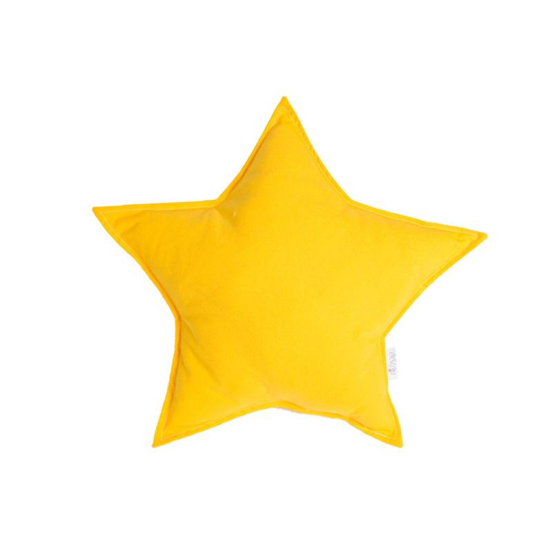 כרית נוי בצורת כוכב צהוב