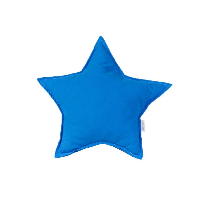 כרית נוי בצורת כוכב כחול