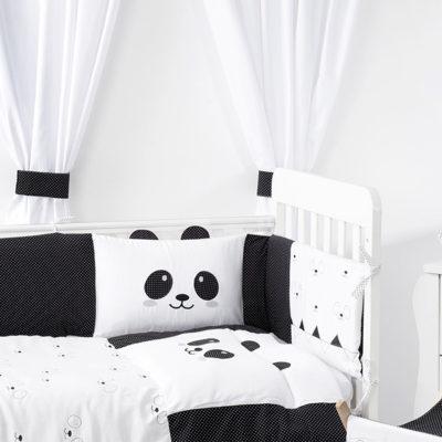 סט מצעים למיטת תינוק פנדה בייביזמול