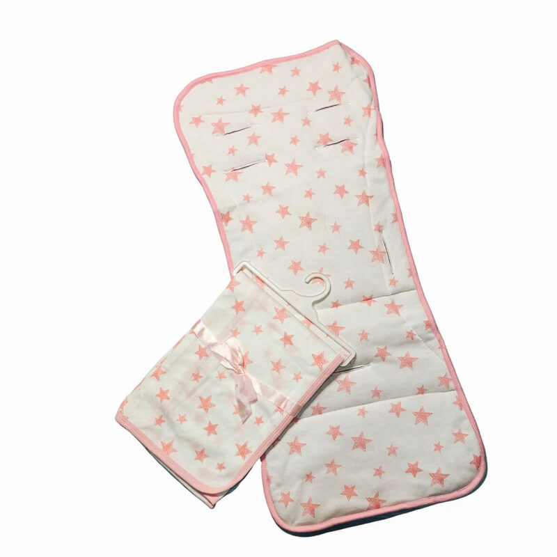 שמיכה לתינוק - דגם ורוד כוכבים