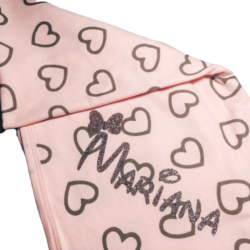 שמיכה לתינוק דגם לבבות