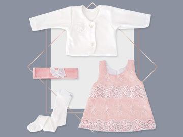 שמלת תחרה לתינוקת ג'קט מעוצב בייביז מול