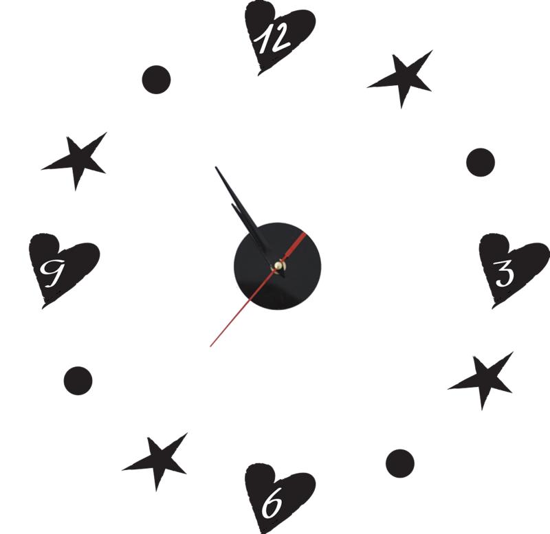 """סט עיצוב חדר דגם """"פינקי פנדי"""" שעון קיר"""