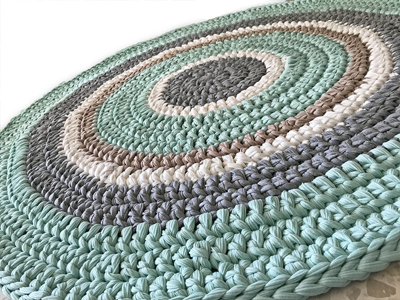 שטיח סרוג לחדר ילדים ותינוקות