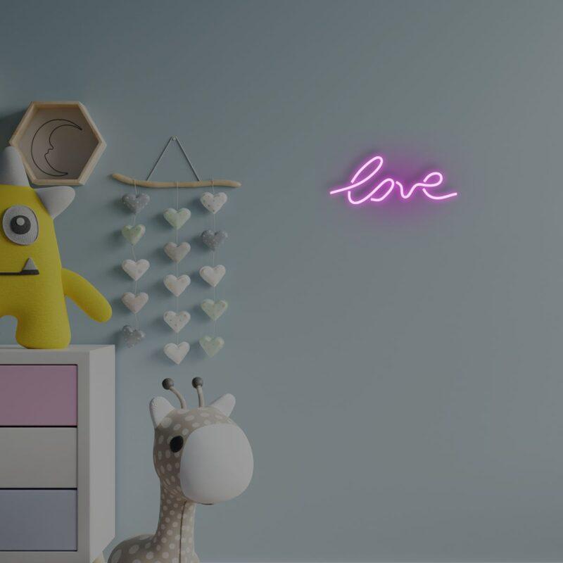 מנורת נאון לחדר ילדים