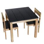 סט שולחן וכיסאות (דגם כפרי)