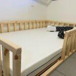 מיטת יחיד/ה מעץ מלא, מונטסורית