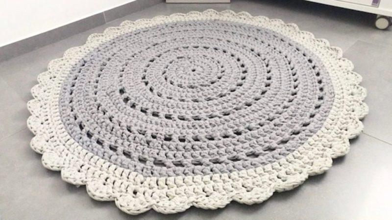 שטיח עגול סרוג וינטאג' כפרי