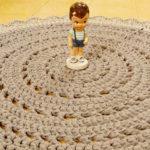 שטיח סרוג בדוגמת תחרה וינטאג' דגם פינקי