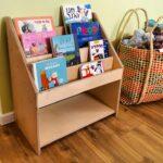 ספריה מעץ לילדים ופעוטות