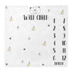 שמיכת חודשים לתינוק לתיעוד השנה הראשונה דגם WILD CHILD | תיעוד התינוק בשנה הראשונה