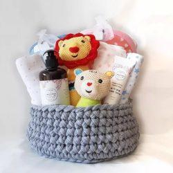 מארז מתנת לידה לתאומים ילד+ילדה
