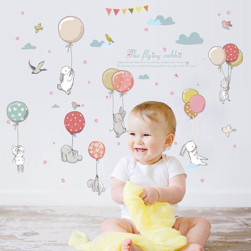 מדבקות קיר אשר תוכננו בקפידה להאיר את חדר התינוק