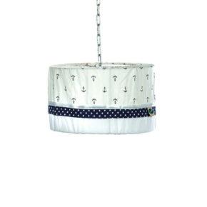 אהיל מעוצב למנורה בחדר תינוק - כחול