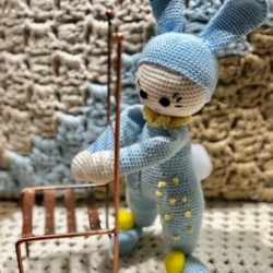 בובה סרוגה - ארנבון בונבון