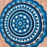 שטיח טריקו כחול לבן
