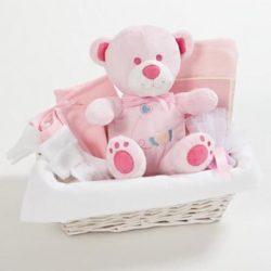 """מתנה ליולדת דגם """"בייסיק לתינוקת"""" ורוד"""
