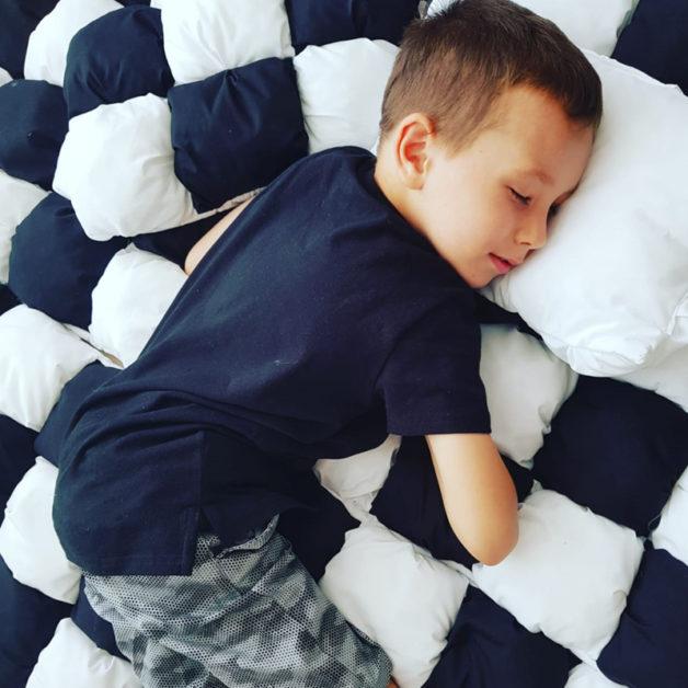 שמיכה לתינוק לילדים בומבון כחול