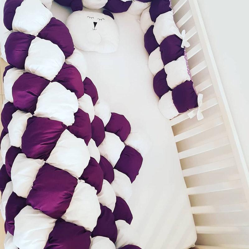 שמיכה לתינוק לילדים בומבון סגול