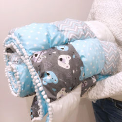 שמיכת בומבון למיטת ילדים