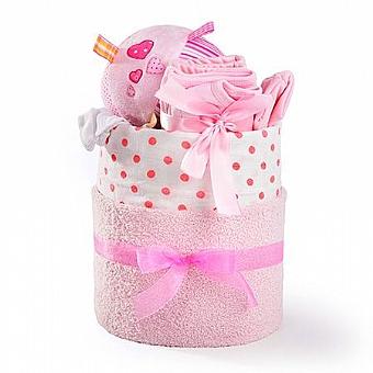 """מתנה ליולדת דגם """"קייק פלוס"""" לילדה"""