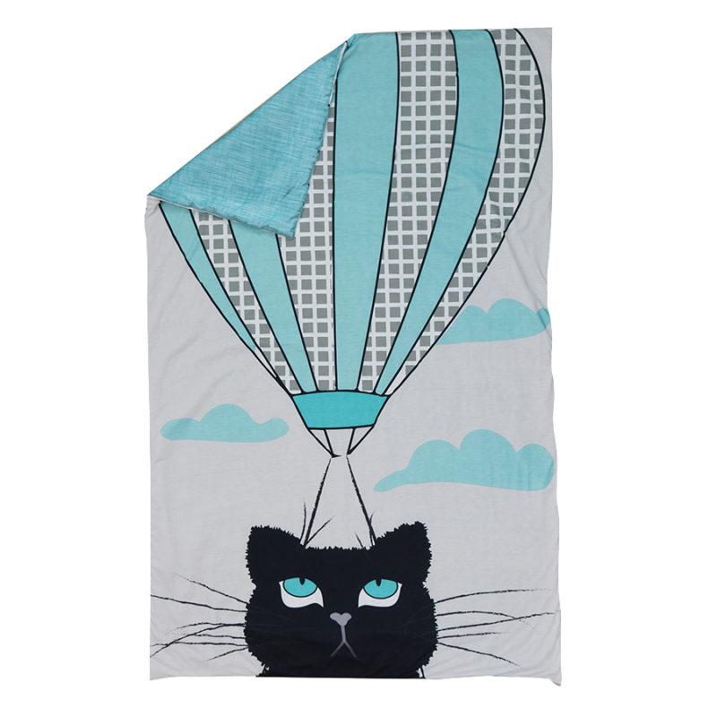 """סט עיצוב חדר דגם """"חתול פורח"""" שמיכה"""