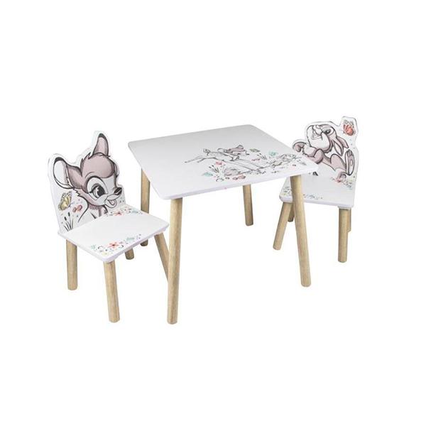 שולחן וכיסאות לילדים מעץ במבי