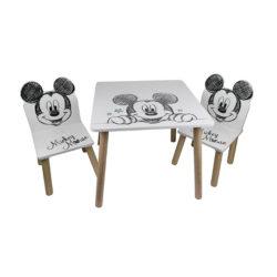 שולחן וכיסאות לילדים מעץ מיקי מאוס קלאסי