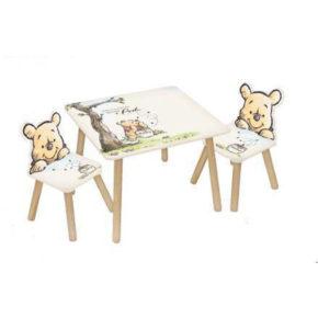 שולחן וכיסאות לילדים מעץ פו הדב קלאסי