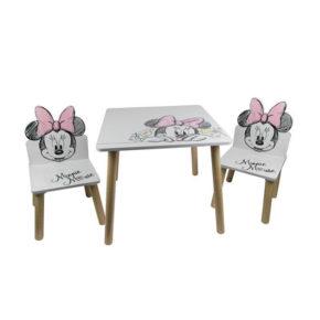 שולחן וכיסאות לילדים מעץ מיני מאוס קלאסי