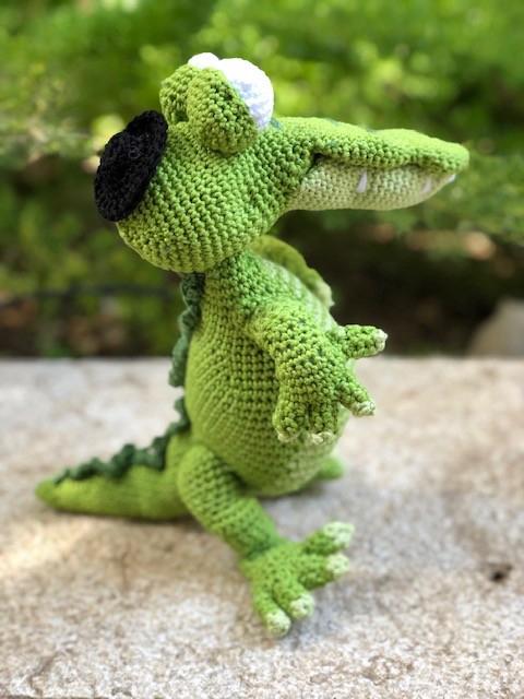בובה סרוגה - קרוקודיל גנה (Крокодил Гена)