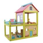 בית בובות מעץ צבעוני מפואר