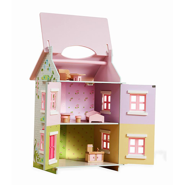 בית בובות מעץ דגם פיות קסומות
