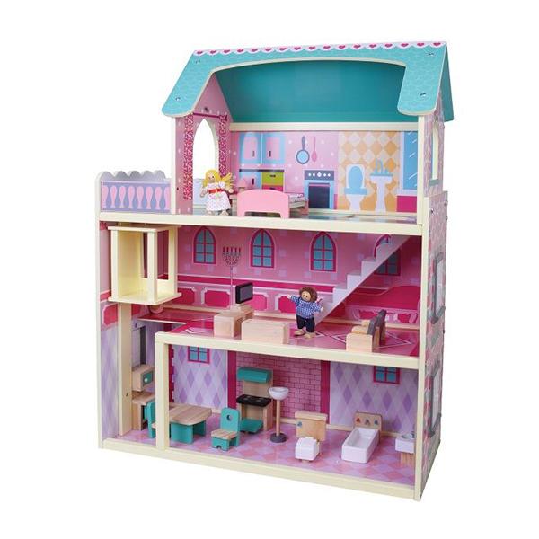 בית בובות מעץ דגם רב קומות