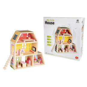 בית בובות מעץ דגם בית הבובות שלי
