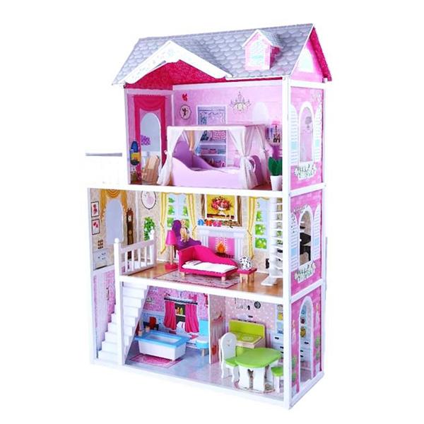 בית בובות מעץ לברביות דגם סיגל