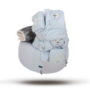 """מארז מתנה ליולדת """"Big Bunny"""" צבע כחול"""