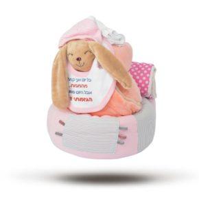 """מארז מתנה ליולדת """"Big Bunny"""" צבע ורוד"""
