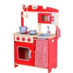 מטבח עץ לילדים אדום כפרי