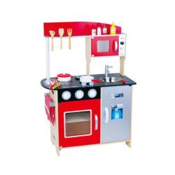 מטבח עץ לילדים אדום מודרני