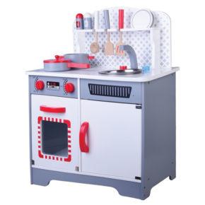 מטבח עץ לילדים - מטבח מודרני אפור