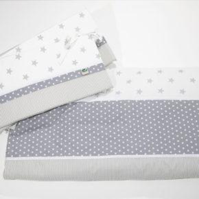 מגן ראש למיטת תינוק אפור