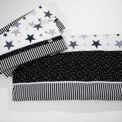 מגן ראש למיטת תינוק שחור לבן