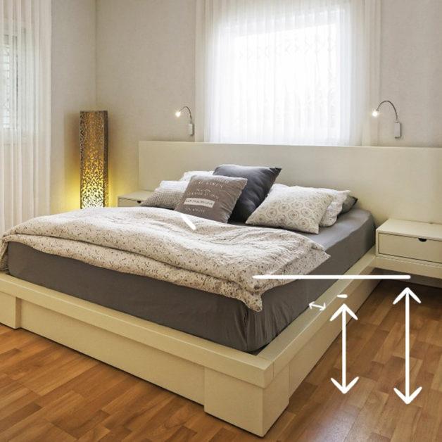 מיטחברת - מידות לעריסה מתחברת למיטה
