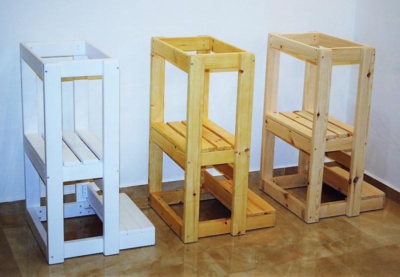 מגדל למידה מעץ מלא דגם Restorica