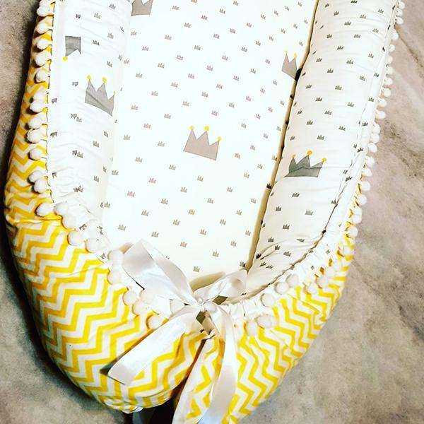 בייבי נסט קן שינה לתינוקת צהוב