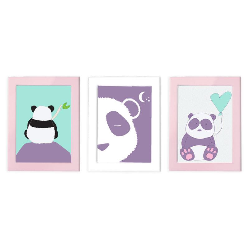 """סט עיצוב חדר דגם """"פינקי פנדי"""" תמונות קיר"""