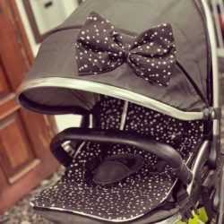 פפיון לעגלת תינוק שחור